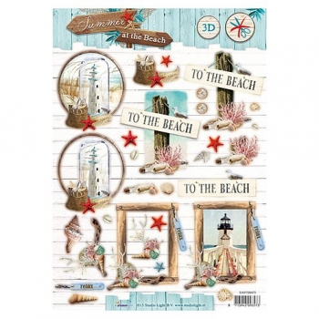 Designpapier gestanzt, Summer at the Beach 66