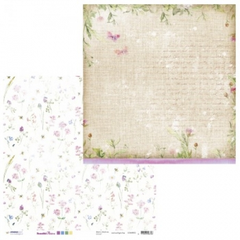 Designpapier zweiseitig, Beautiful Flowers 02, 30,5 x 30,5 cm, 200 g/m²