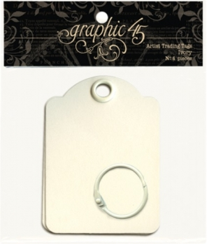 Small Trading Tags Ivory with Binder Ring 6x9cm