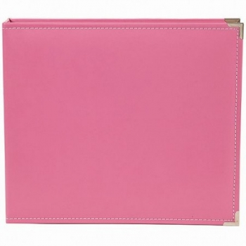 SN@P! Faux Leather Album, 12 x 12 Inch, pink