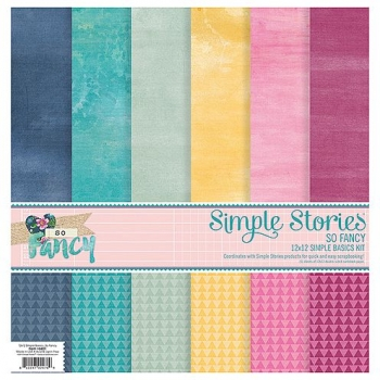 "Paper Set, So Fancy, Simple Basics Kit, 12"" x 12"" , 6 Bogen"