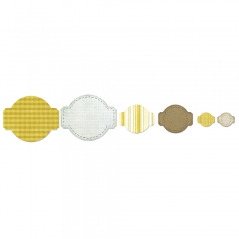 Sizzix Schablonen-Set - Framelits - Circle & Labels