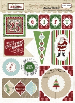 So This is Christmas - 3D Layered Stickers