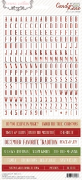 Candy Cane Lane: 6x12 Word Stickers