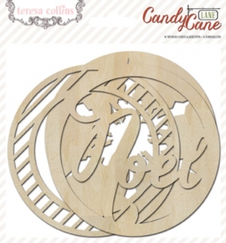 Candy Cane Lane: Wood Ornaments