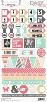 Teresa Collins - Daily Stories: 6x12 Decorative Stickers
