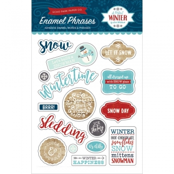 Echo Park - A Perfect Winter - Adhesive Enamel Words & Phrases