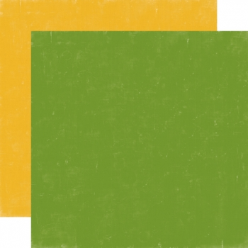 Designpapier Echo Park - Happy Camper - Green / Yellow, 30,5 x 30,5 cm