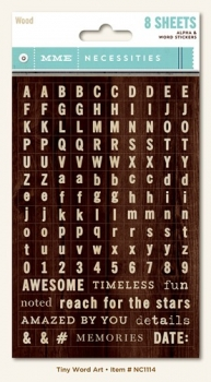 Buchstaben Sticker - Wood Tiny Word/Alphas