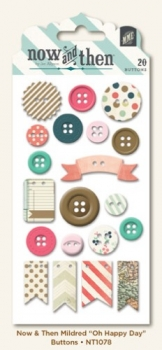 My Minds Eye Now and then - Oh Happy Day Decorative Buttons