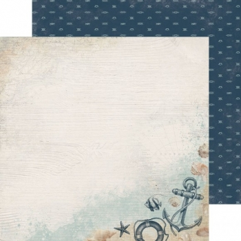 Designpapier zweiseitig, Kaisercraft double-sided 30,5x30,5cm High Tide Overboard