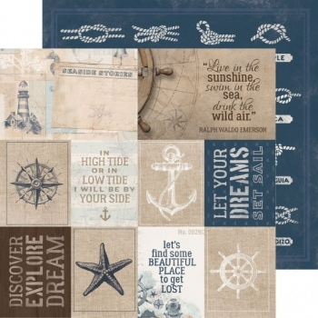 Designpapier zweiseitig, Kaisercraft double-sided 30,5x30,5cm High Tide Set Sail