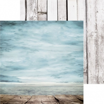 Designpapier zweiseitig, Kaisercraft double-sided 30,5x30,5cm Beach Shack Board Walk