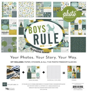 "Paper Set - Echo Park - Boys Rule Collection Kit 12"" x 12"""