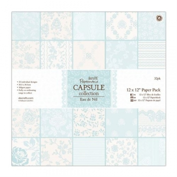 "Papierblock - Capsule Collection - Eau de Nil - 12"" x 12"" - 32 Blatt"