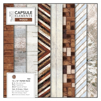 "Papierblock - Capsule Collection - Elements Wood - 12"" x 12"" - 36 Blatt"