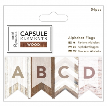 Alphabet Flaggen - Capsule Collection - Elements Wood - 54 Stück