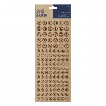 Alphabet Sticker Kork - bare basics