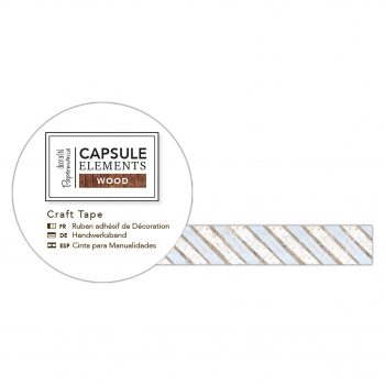 Washi Tape - Bastelklebeband Streifen - Capsule Collection - Elements Wood