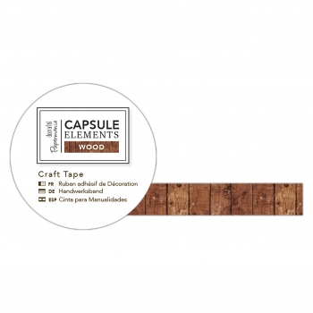 Washi Tape - Bastelklebeband Holzverkleidungen - Capsule Collection - Elements Wood