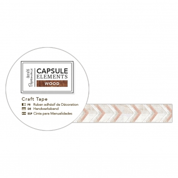 Washi Tape - Bastelklebeband Zick-Zack - Capsule Collection - Elements Wood
