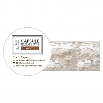 Washi Tape - Holzoptik Bastelklebeband Dielen Weiß - Capsule Collection - Elements Wood