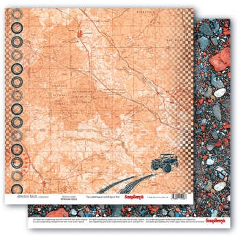 "Scrapbooking Papier Doppelseitig 12""*12"", Adventure Awaits, Adventure awaits"