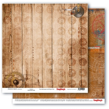 "Scrapbooking Papier Doppelseitig 12""*12"", Adventure Awaits, Hardware"