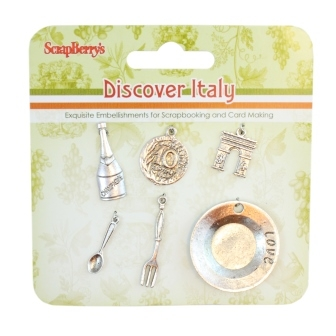 Metal charms set Set Discover Italy
