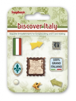 "Set of decorative brads ""Discover Italy"""