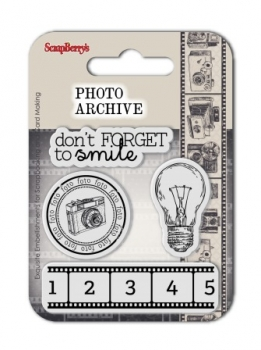 Set of clear rubber stamps 7*7 cm Photo Archive No. 3