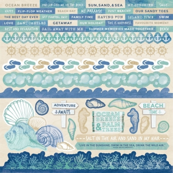 "Kaisercraft sticker coastal escape 12"" x 12"""