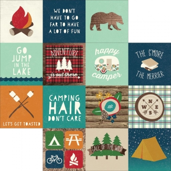 Designpapier Simple Stories - Cabin Fever - 4x4 Journaling Cards, 30,5 x 30,5 cm