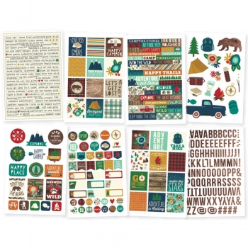 "Simple Stories - Cabin Fever - 4x6"" Stickers"