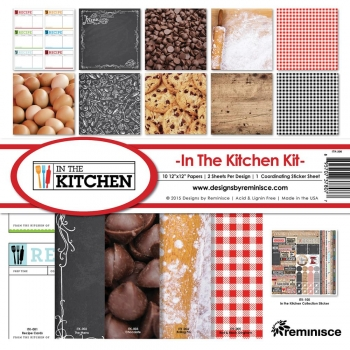 "Paper Set - In the Kitchen KIT 12"" x 12"""