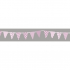Washi Tape Wimpel Girlande, babyrosa