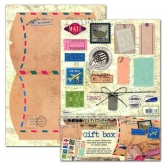 Designpapier gestanzt Set Vintage Gift Box Air Mail