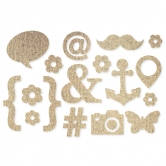 Sticker Burlap Icons natur