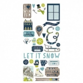 Simple Sets - Snow Fun, Fundamentals Cardstock Stickers, 6 x 12 Inch