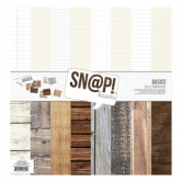 "Paper Set, Wood & Notebook, Sn@p Basics Kit, 12"" x 12"" , 8 Bogen"