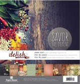 "Paper House Delish Double-Sided Paper Pack 12""X12"" 24 Blatt"