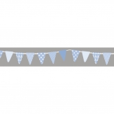 Washi Tape Wimpel Girlande, babyblau