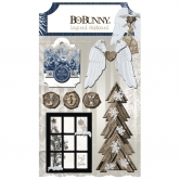 BoBunny Layered Chipboard Sleigh Ride