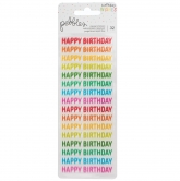Pebbles stickers happy hooray - birthday wishes - happy birthday - 32 Stück