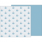 Designpapier zweiseitig, Pebbles - Night Night - Baby Boy - Seaside 12x12""