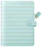 Webster´s Pages - A5 Binder Only - Ice Blue With Gold Stripe - 6-Loch - ohne Inhalt