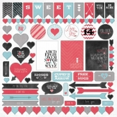 My Minds Eye - Cupids Arrow - 12x12 Sticker Sheet
