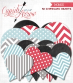 Cupids Arrow Chipboard Hearts