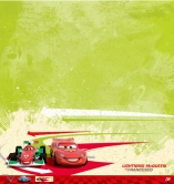 EK Success - Disney Collection - Cars 2 - 12 x 12 Single Sided Paper - Lightning McQueen and Francesco