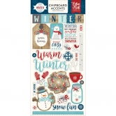 Echo Park - A Perfect Winter - Chipboard Accents - Adhesive Die Cuts